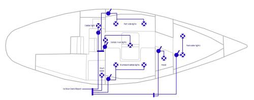 small resolution of re wiring of 12v led lights of a sailing yacht 12 volt toggle switch wiring 12