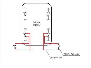 GARMIN Edge500 (ついに)外付けボタン追加: 整備等日誌