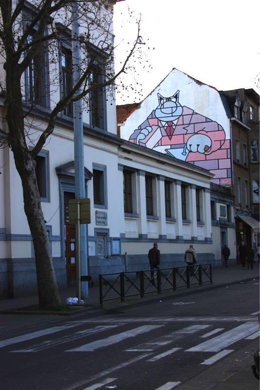 Fresque le Chat - Bruxelles - No Mad Land