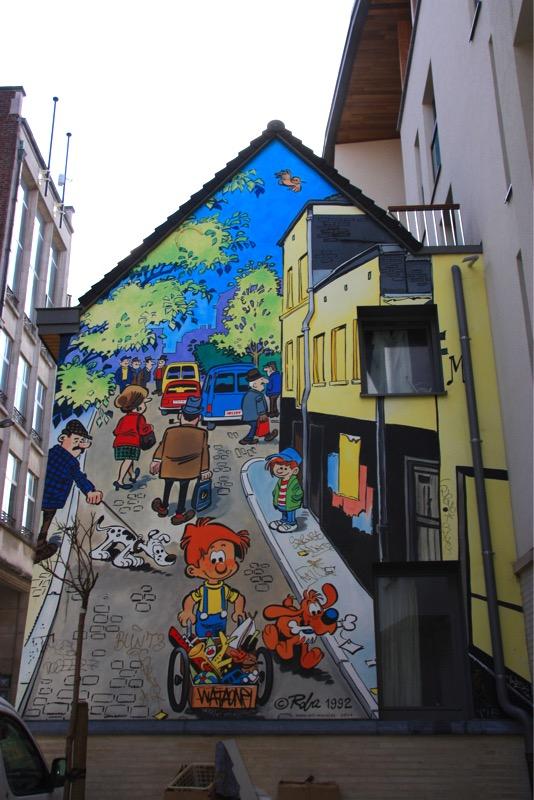 Fresque Boule et Bill - Bruxelles - No Mad Land