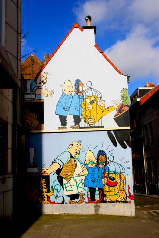 Fresque du Marsupilami - Bruxelles - No Mad Land