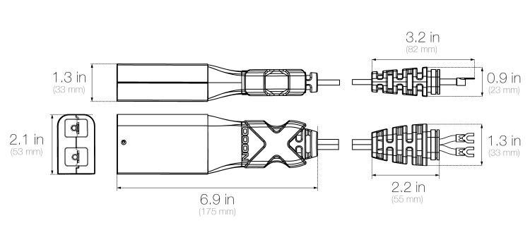 noco - gx ez-go cable with powerwise d-plug - gxc009 - ez  golf cart wiring  diagram