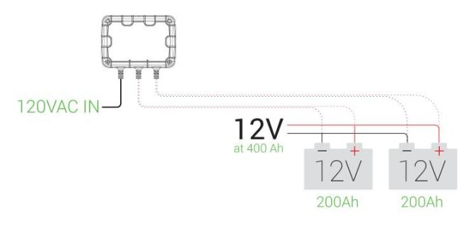 noco  series and parallel charging  support