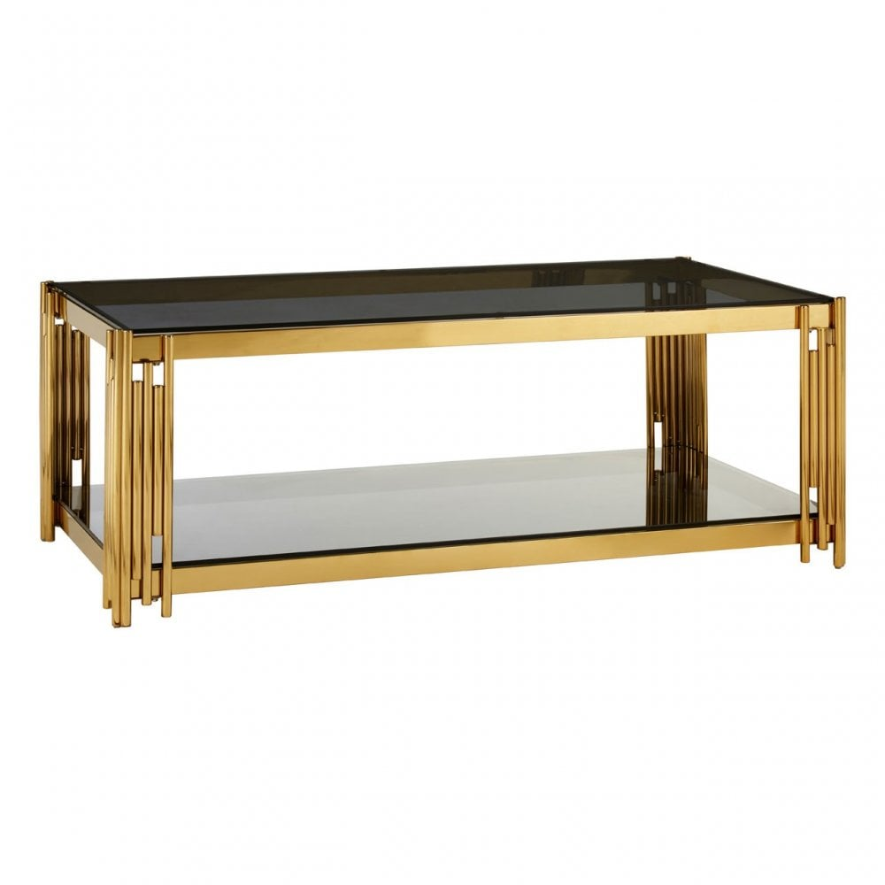 signature by no18 linear gold coffee table