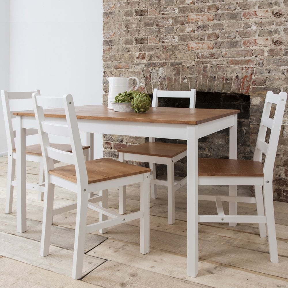 White Dining Room Chair Annika Dining Table With 4 Chairs Natural White