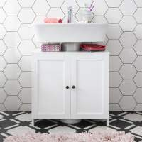 Stow Bathroom Sink Cabinet Undersink in White