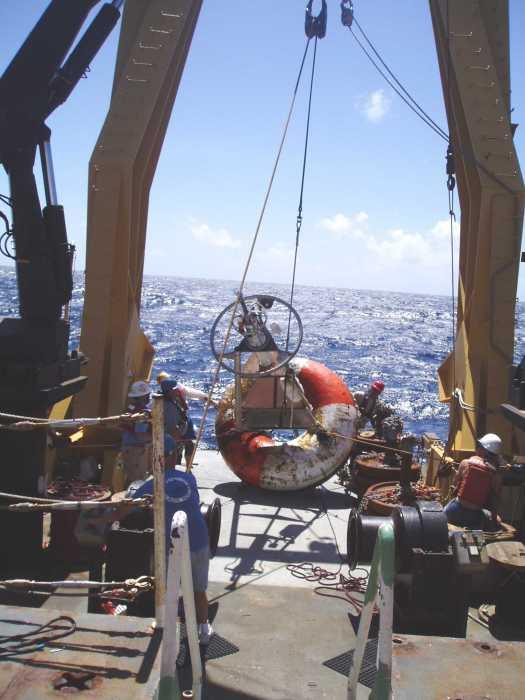 Lewis retrieved buoy