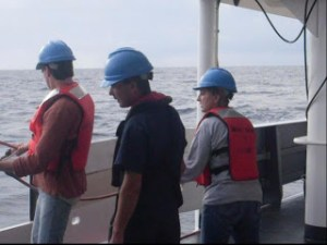 Crew in safety gear
