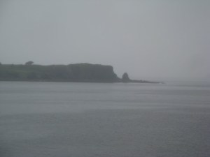 The harbor where the Oscar Dyson is docked. Just a bit overcast.