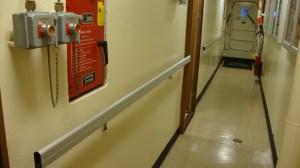 hallway hand rails