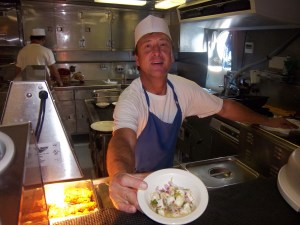 Walter, Chef de Cuisine, with his award winning ceviche