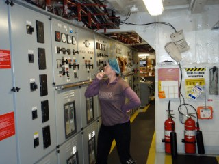 I promise, I did not touch anything.  Generator control panel.