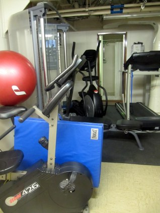 Eat too many cookies today? Work off those extra calories in one of the ships two workout rooms.