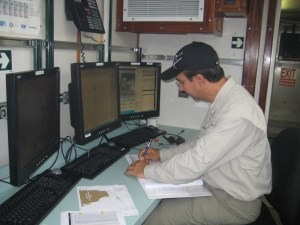 Nelson records data from the CTD