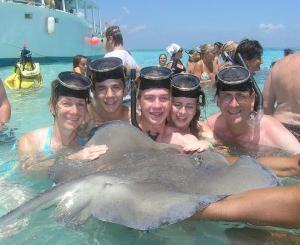 Kaiser Family snorkeling in 2005