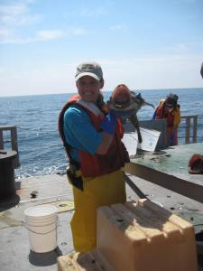 Alicia with monkfish
