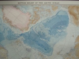 Bottom of the Arctic on a map
