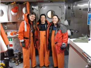 Katie, Michelle and I in our full gear