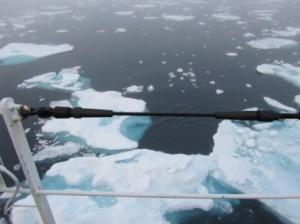 ice from the bridge