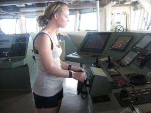 Me piloting the ship