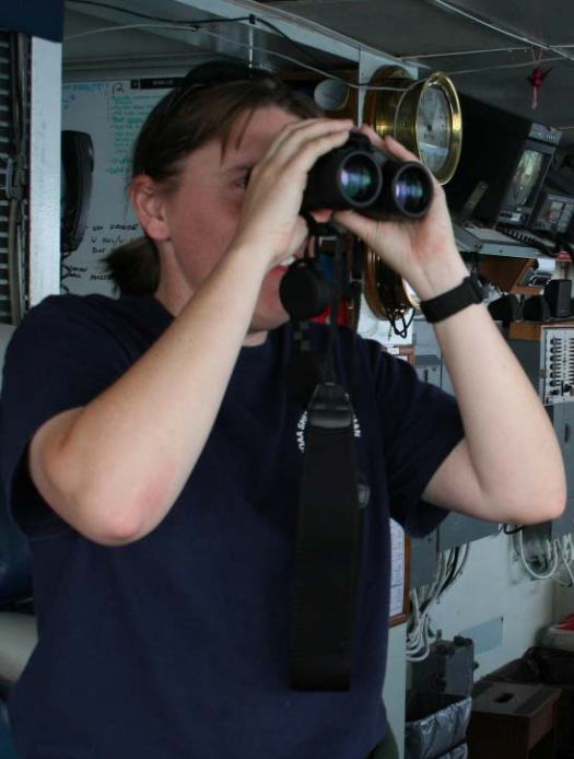 """LTjg Jennifer King, NOAA Corps Officer, B.S. Marine Biology   """"Science helps understand natural processes: how things grow, and how nature works. We need to help protect it. Science shows how in an ecosystem, everything depends on one another."""""""