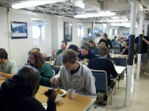 The mess hall is a place where people tend to gather.