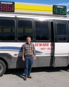 Traveling to Seward, Alaska.
