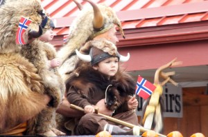 The Little Norway parade included Vikings