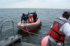 Towing the Fast Response Boat (FRB)