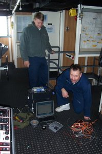 Chris, the FOO (Field Operations Officer) & Eric, the Chief Electronics Technician