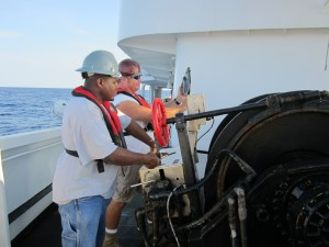 Operating the winches