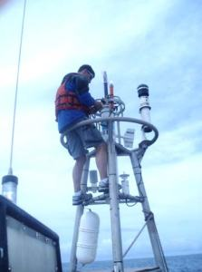 Removal of radiometer and anemometer from buoy