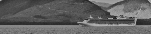 Passing cruise ship