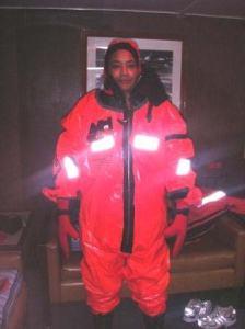 TAS Jacquelyn Hams in full survival suit