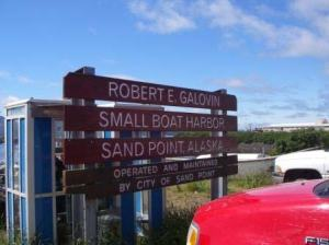 Entrance to the harbor at Sand Point