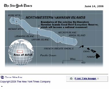 This map was part on an article found in the June 14th, 2006 edition of the New York Times.