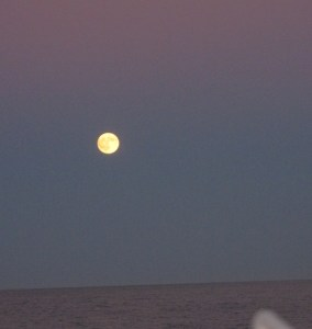 A full moon over the Gulf of Maine