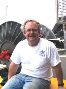 Dr. Robert Weller sitting on the aft deck