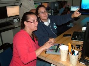 Stephanie Farrington and I recording benthic marine invertebrates species inside the proposed Fernadina MPA.