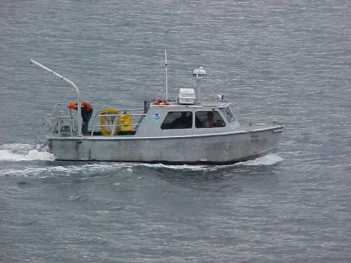 Launch boat in action in Wrangell Narrows