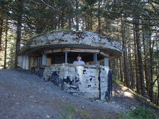 Avery in WW2 bunker