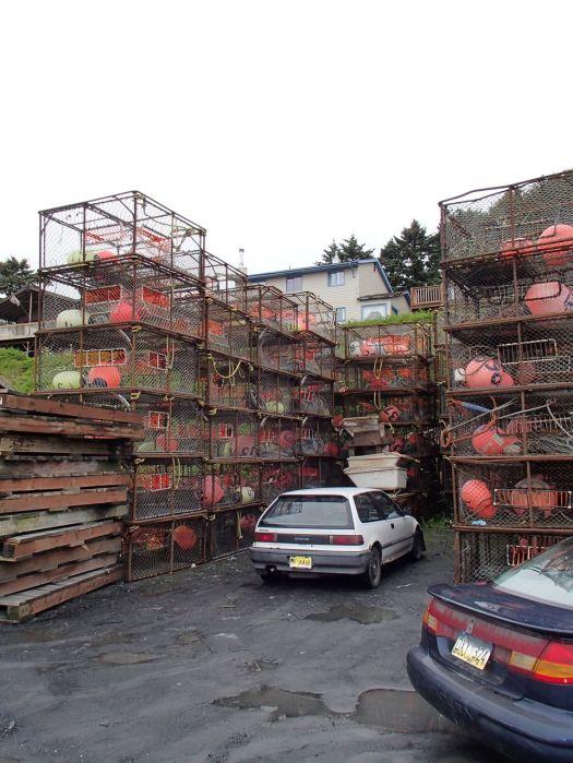 Crab pot parking spot!