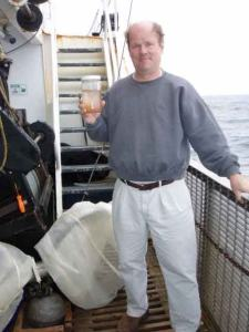 Mr. Jenkins displays a sample of zooplankton