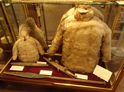 Aleut waterproof jacket made of mammal intestine
