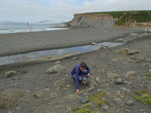 Rosalind at Fossil Beach