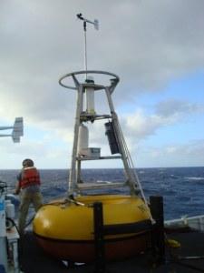 Buoy mooring up close