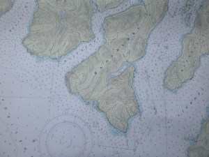 This is a nautical chart used to help mariners navigate safely.