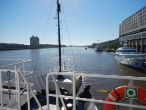 Leaving Savannah and heading down the river