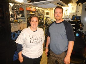 Me with Keith Martin the Electronics Technician who is a Miami Palmetto Alumni Photo: Amy Rath