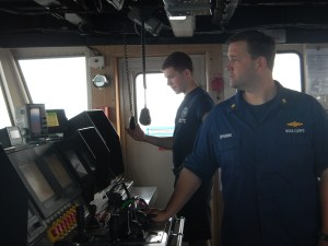 Commanding Officer LCDR Nick Chrobak and Junior Officer ENS Conor Maginn